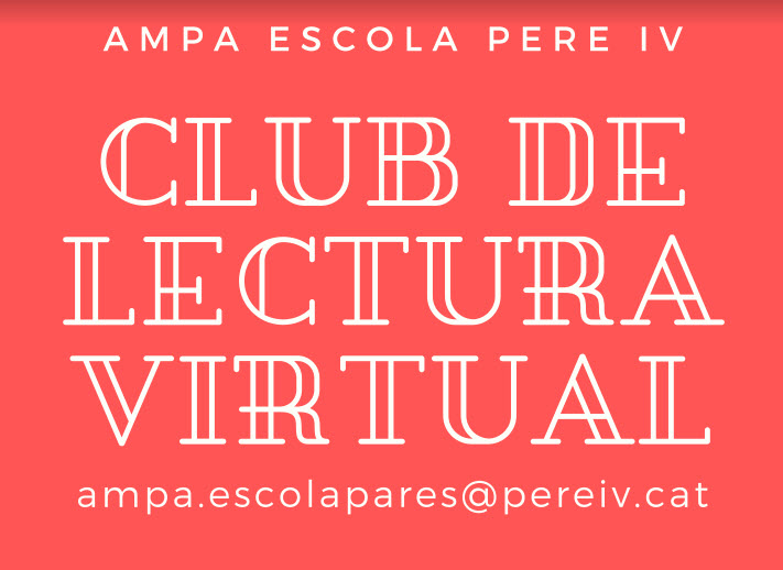 Club de lectura virtual per a adults- AMPA Pere IV- Curs 2019-2020